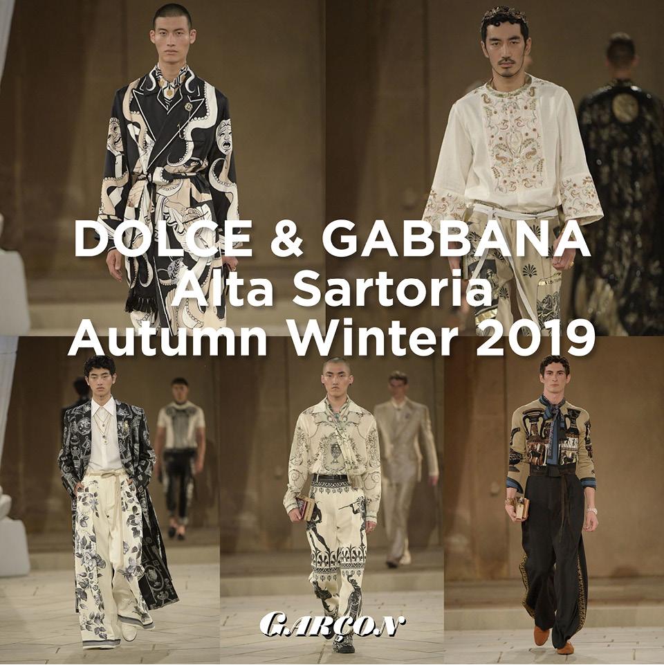 Dolce & Gabbana Alta Sartoria Autumn Winter 2019