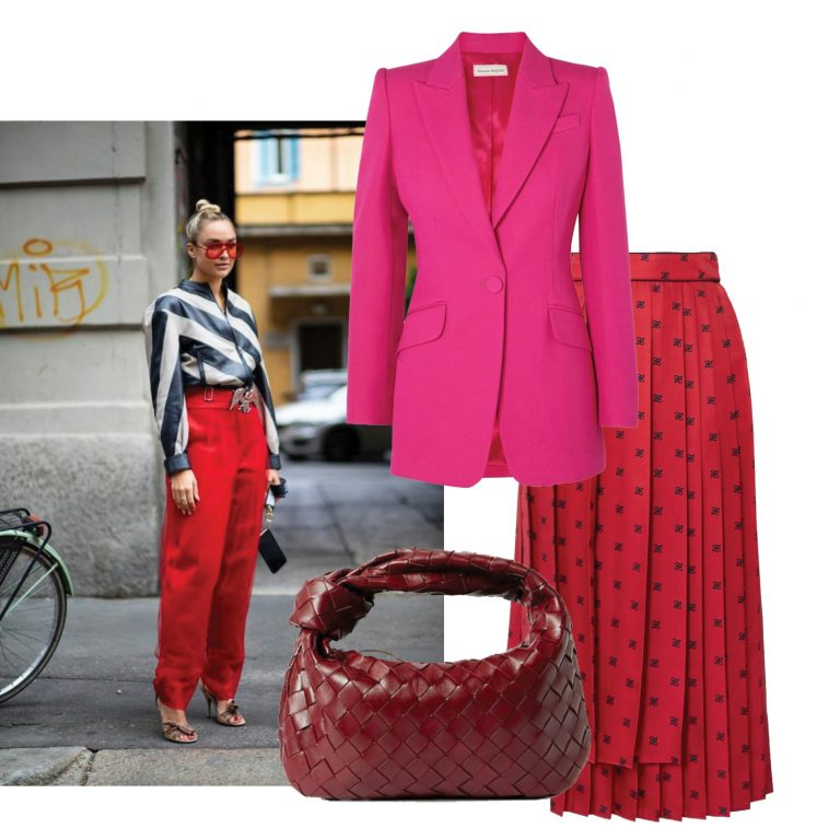 Classic red with colorful colors