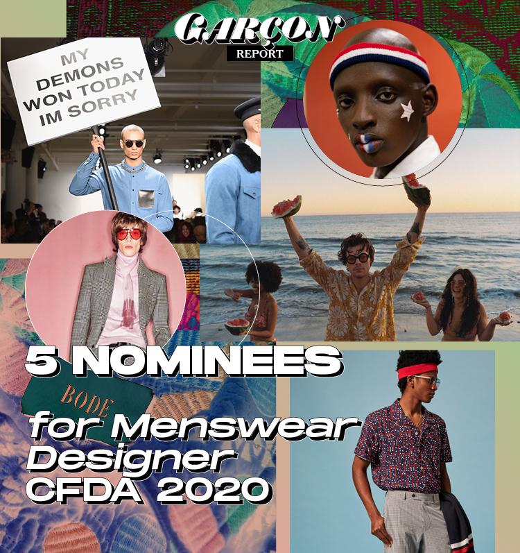 5 Nominees for Menswear Designer CFDA 2020